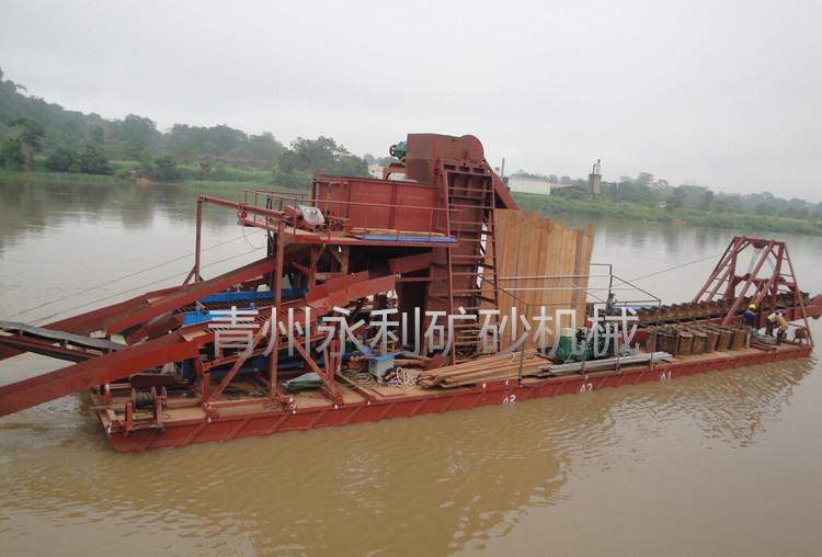 銷售到中非的鏈斗式黃金寶石提取船
