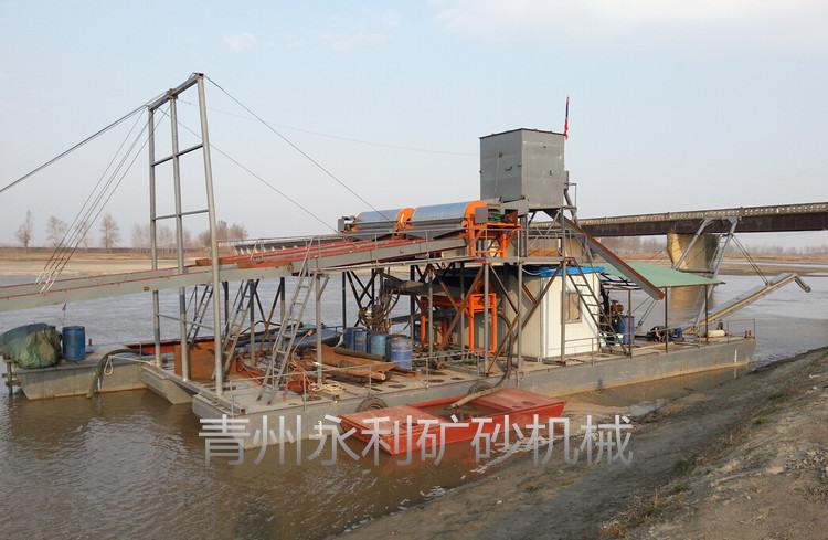 銷售到朝鮮的射吸式抽沙選鐵選金船