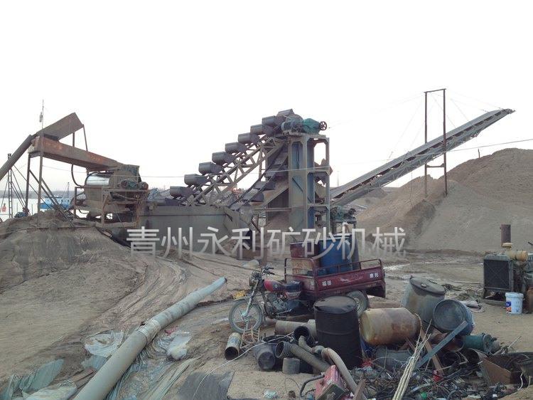 銷售到山東臨沂的旱地選鐵水洗沙設備